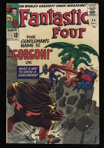 Fantastic Four #44 VG/FN 5.0 White Pages 1st Gorgon! Marvel Comics