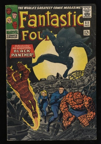 Fantastic Four #52 VG+ 4.5 1st Black Panther!