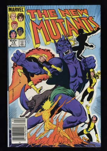 New Mutants #14 VF- 7.5 White Pages