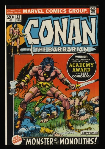 Conan The Barbarian #21 NM- 9.2 White Pages