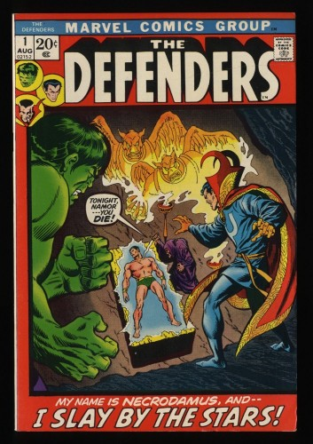 Defenders #1 VF/NM 9.0 White Pages