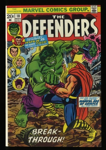 Defenders #10 NM+ 9.6 White Pages