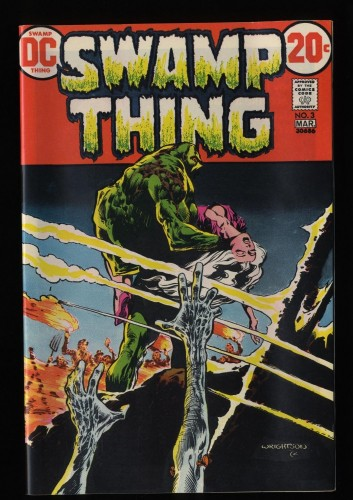 Swamp Thing #3 NM+ 9.6 White Pages