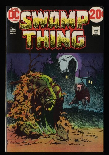 Swamp Thing #4 VF- 7.5 White Pages