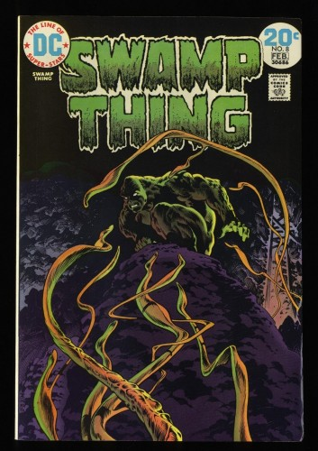 Swamp Thing #8 VF+ 8.5 White Pages