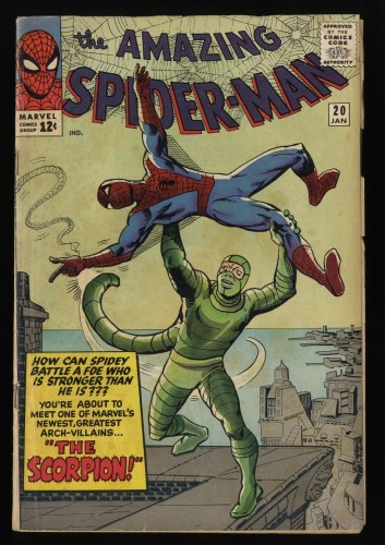 Amazing Spider-Man #20 GD+ 2.5 1st Scorpion!