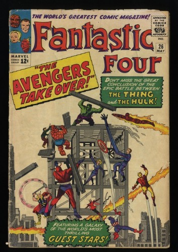 Fantastic Four #26 FA/GD 1.5 Avengers Crossover!