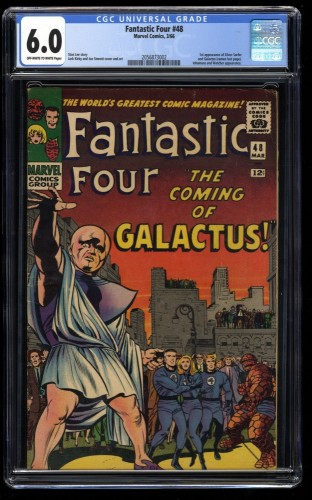 Cover Scan: Fantastic Four #48 CGC FN 6.0 Off White to White Marvel Comics