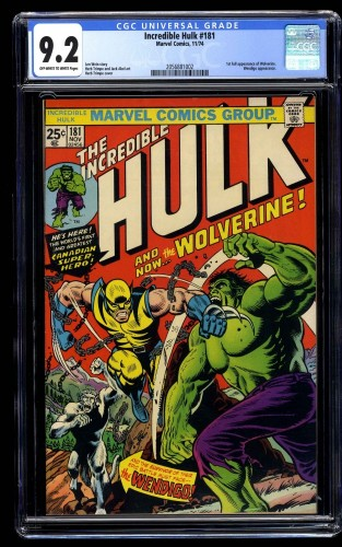 Incredible Hulk (1968) #181 CGC NM- 9.2 Off White to White Marvel Comics