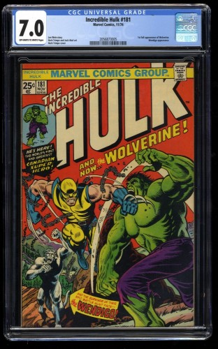 Incredible Hulk (1968) #181 CGC FN/VF 7.0 Off White to White Marvel Comics