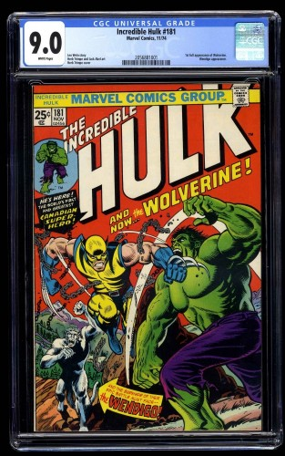 Incredible Hulk (1968) #181 CGC VF/NM 9.0 White Pages Marvel Comics