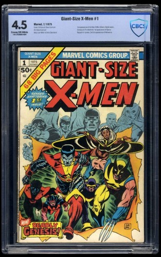 Giant-Size X-Men #1 CBCS VG+ 4.5 Cream To Off White