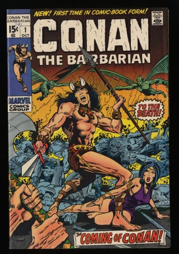 Conan The Barbarian #1 FN+ 6.5 White Pages