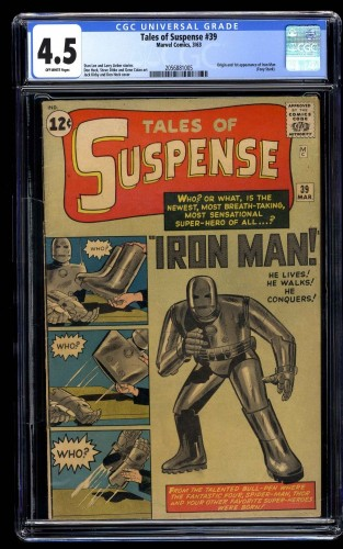 Tales Of Suspense #39 CGC VG+ 4.5 Off White Iron Man
