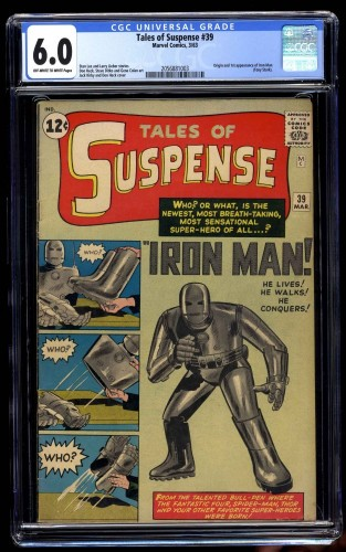 Tales Of Suspense #39 CGC FN 6.0 Off White to White Iron Man
