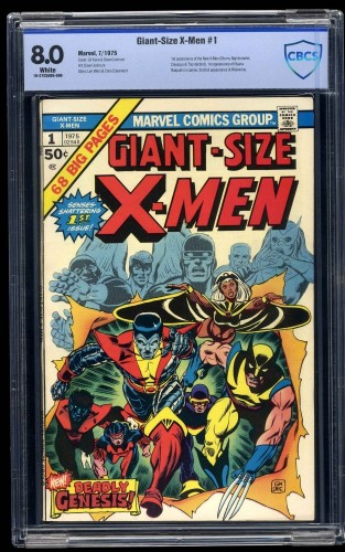 Cover Scan: Giant-Size X-Men #1 CBCS VF 8.0 White Pages