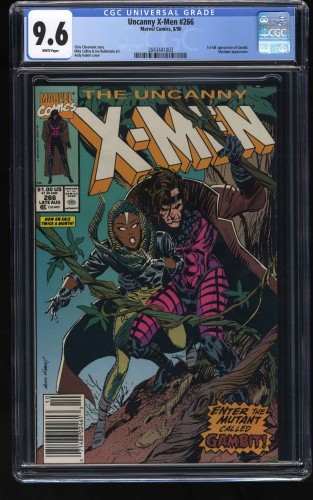 X-Men #266 CGC NM+ 9.6 White Pages 1st Gambit!