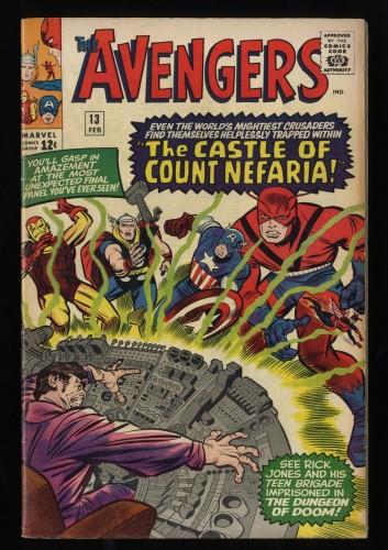 Avengers #13 VG/FN 5.0 1st Count Nefaria!