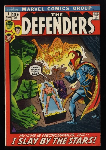 Defenders #1 FN 6.0 White Pages Beautiful copy!