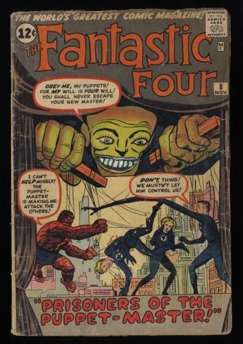 Fantastic Four #8 Fair 1.0