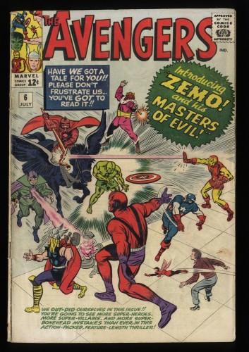 Avengers #6 GD- 1.8