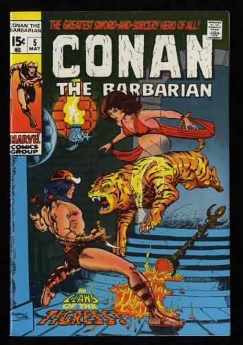 Conan The Barbarian #5 VF/NM 9.0 White Pages