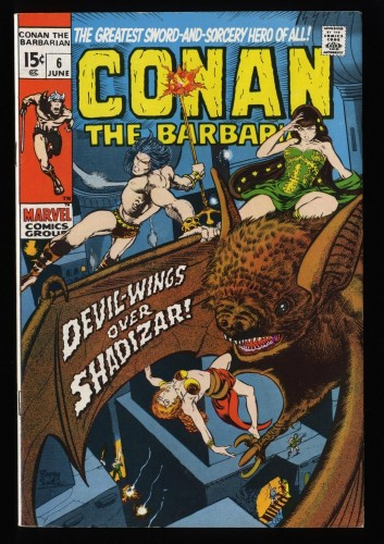 Conan The Barbarian #6 VF+ 8.5 White Pages