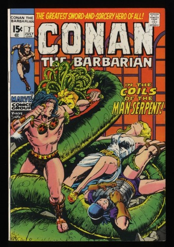 Conan The Barbarian #7 VF+ 8.5 White Pages
