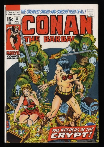 Conan The Barbarian #8 VF 8.0 White Pages