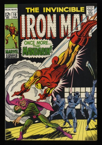 Iron Man #10 FN/VF 7.0 White Pages