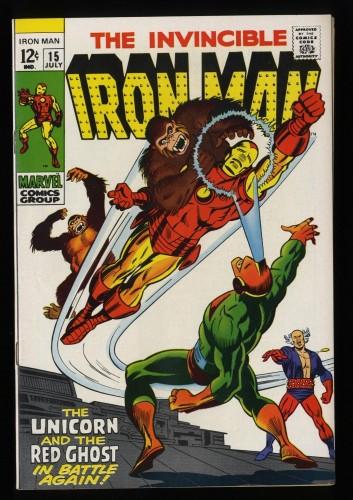 Iron Man #15 NM- 9.2 Off White to White