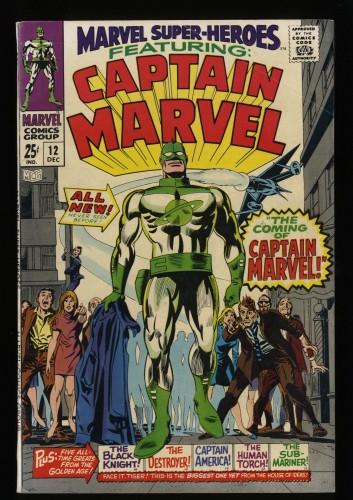 Marvel Super-Heroes #12 FN 6.0 1st Captain Marvel!