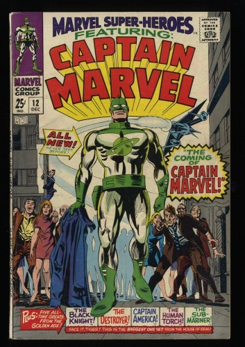 Marvel Super-Heroes #12 FN+ 6.5 1st Captain Marvel!