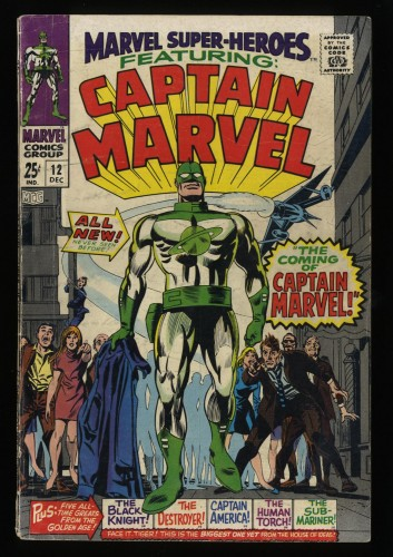 Marvel Super-Heroes #12 VG- 3.5 1st Captain Marvel!