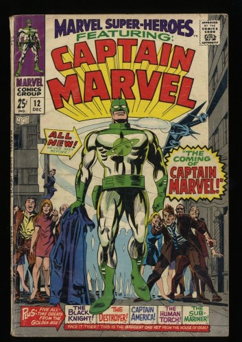 Marvel Super-Heroes #12 GD/VG 3.0 1st Captain Marvel!