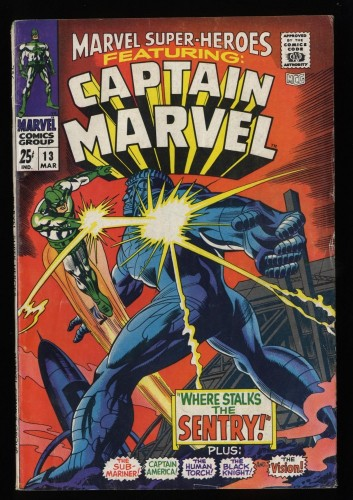 Marvel Super-Heroes #13 VG+ 4.5 1st Carol Danvers!
