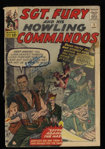 Sgt. Fury and His Howling Commandos #1 P 0.5