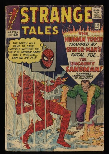 Strange Tales #115 GD- 1.8 Spider-Man Appearance! Origin of Doctor Strange!