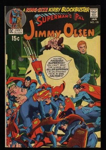 Superman's Pal, Jimmy Olsen #135 VF 8.0 White Pages 2nd Darkseid!