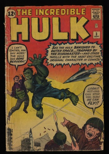 Incredible Hulk (1962) #3 Fair 1.0 1st Ringmaster!