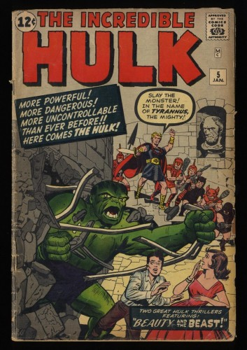 Incredible Hulk (1962) #5 GD 2.0 1st Tyrannus!