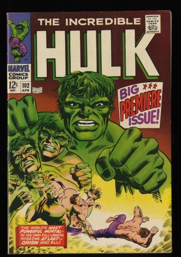 Incredible Hulk (1968) #102 VF 8.0 White Pages