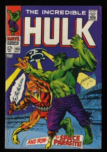 Incredible Hulk (1968) #103 VG/FN 5.0 White Pages