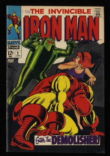 Iron Man #2 FN+ 6.5 White Pages