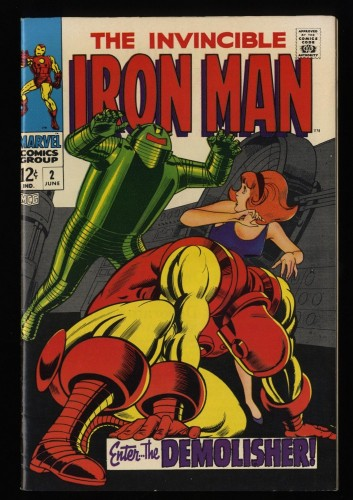 Iron Man #2 VF+ 8.5 White Pages