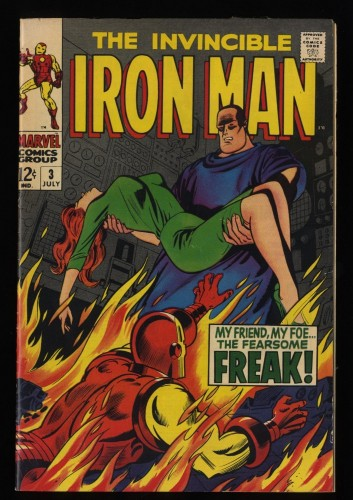Iron Man #3 FN 6.0 White Pages