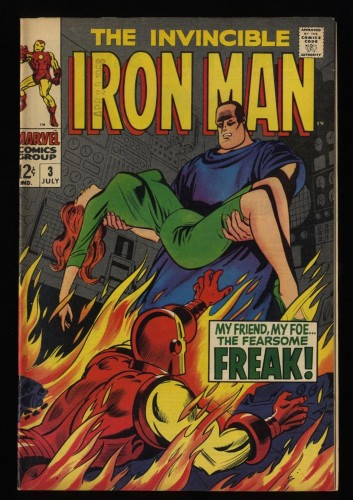 Iron Man #3 VF- 7.5 White Pages