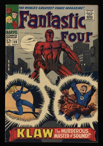 Fantastic Four #56 FN- 5.5 White Pages