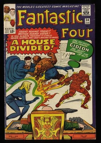 Fantastic Four #34 FN- 5.5