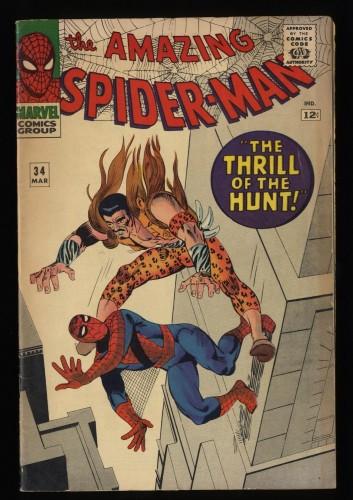 Amazing Spider-Man #34 VG/FN 5.0 Kraven!